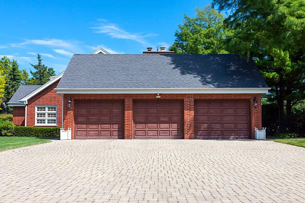 Where to Buy Traditional American Garage Door With Dark Wooden Door