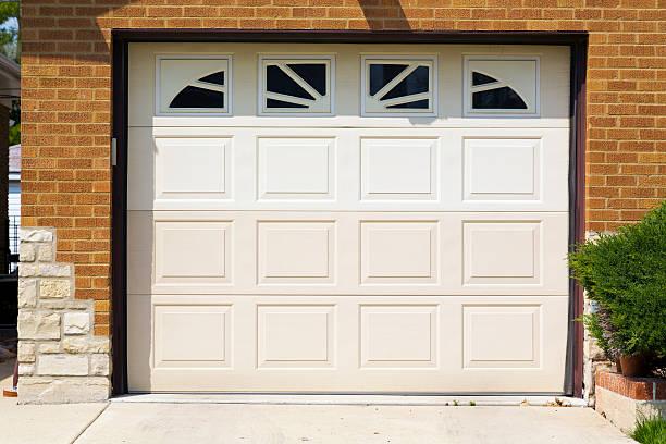 white american garage door